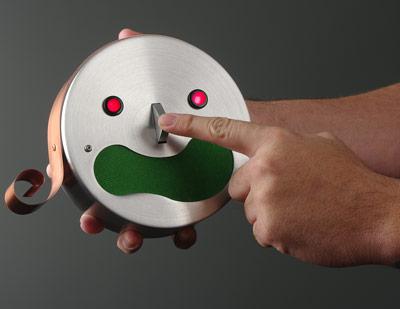 robot alarm clock kim