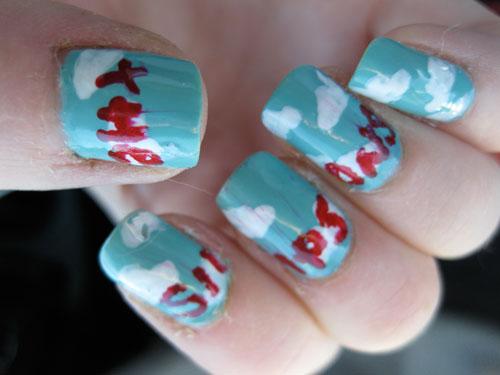 simpsons nail design