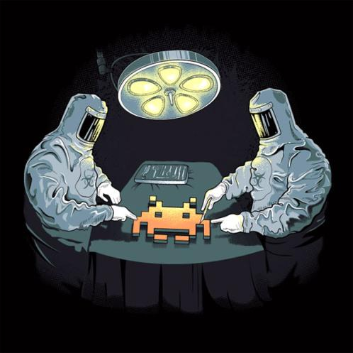 space invaders aliens autopsy