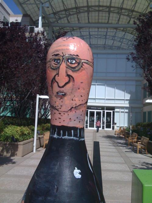 steve jobs bowling pin art