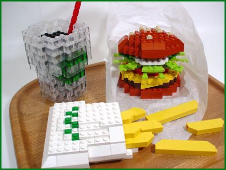 tasty lego cheeseburger combo