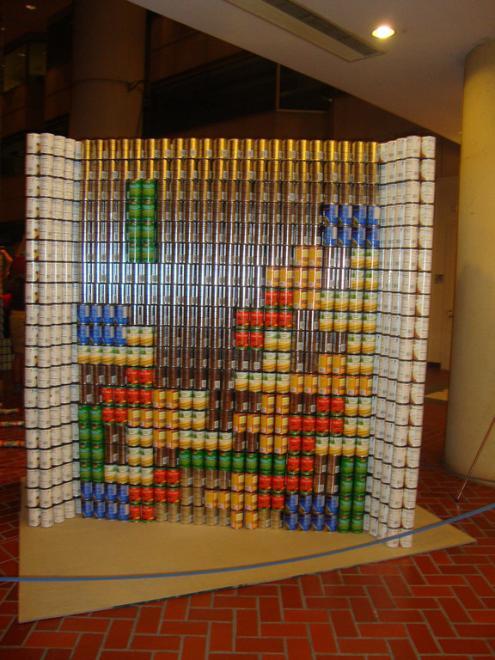 tetris can art
