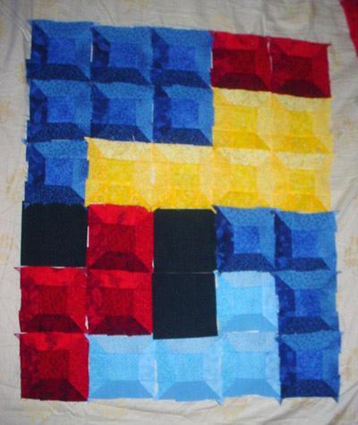 tetris game quilt