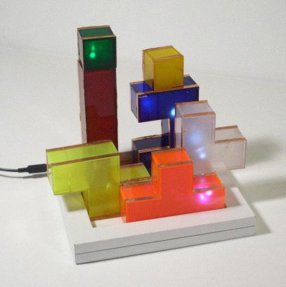 tetris lamp design