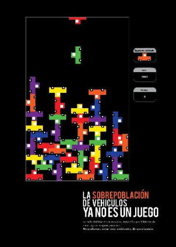 tetris car design poster