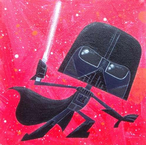 darth vader artwork canvas
