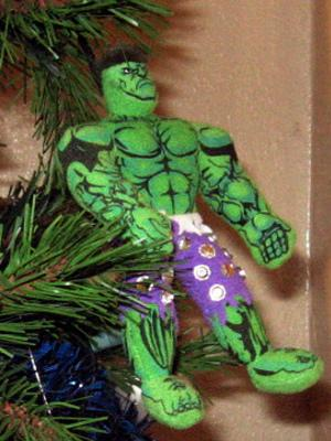 hulk felt ornament
