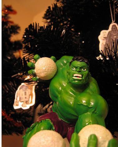 hulk green ornament