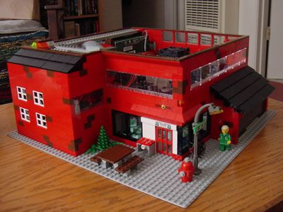 lego town pc case mod