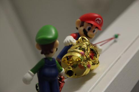 mario and luigi ornaments