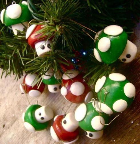 mario mushroom cool ornaments