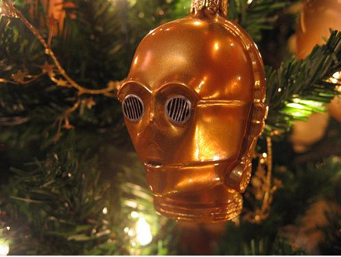 robotic c3po ornament