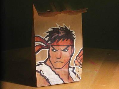 ryu lunch bag art