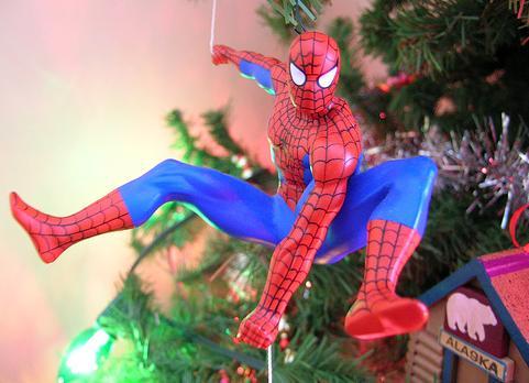 spiderman cool ornament