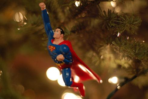 superman cooflying ornament