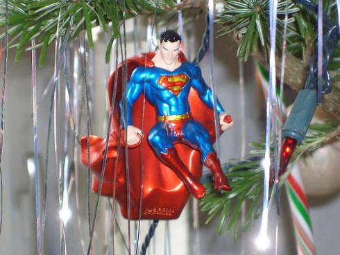 superman cool christmas ornament