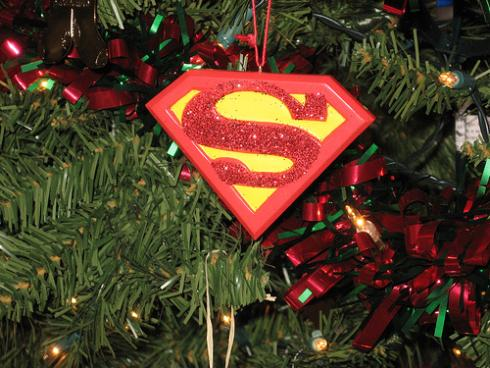 superman cool star ornament