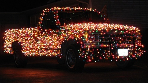 the bright christmas decorations truck is a geeky way to light up your christmas