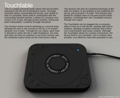 touchtable portable dj