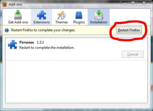 Install Firefox Personas 3