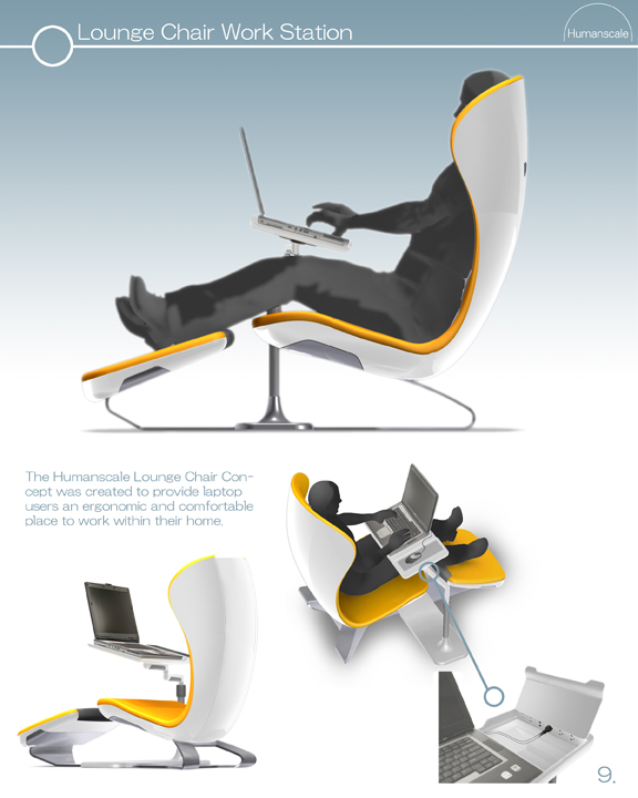 The First Is The Lounge Chair Work Station, Also Hailed As The DayBed  Concept, Which Offers A Dedicated Laptop Mount And Ergonomic Seating  Arrangement.