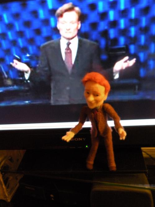 conan obrien talk show doll