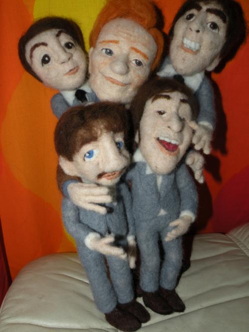 conan obriend the beatles dolls