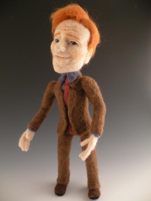 funny conan obrien felt doll