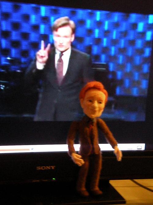funny conan obrien talk show doll