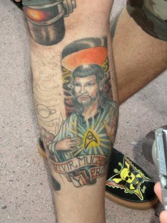 jesus spock tattoo design