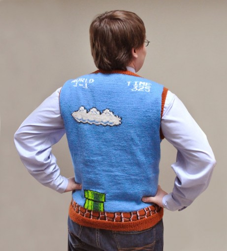 super mario brothers sweater vest