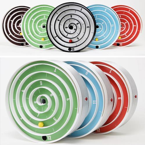 cool aspiral clock design