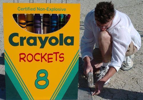 crayola crayons rockets project