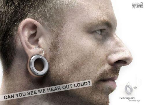 hearing aid earring