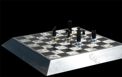 This Chess Set Was Designed By Dominik Scheurer And Has Been Inspired By  Formula 1. Each Chess Piece Is Made Of Carbon Fiber And Has A Base Of  Sterling ...
