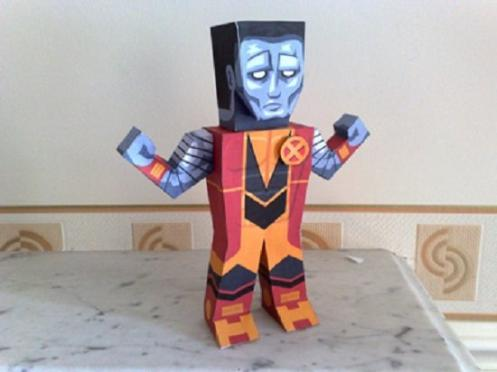 marvel papercraft colossus
