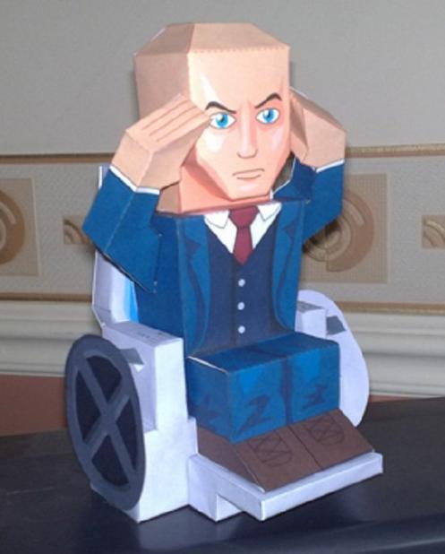 marvel papercraft professor x