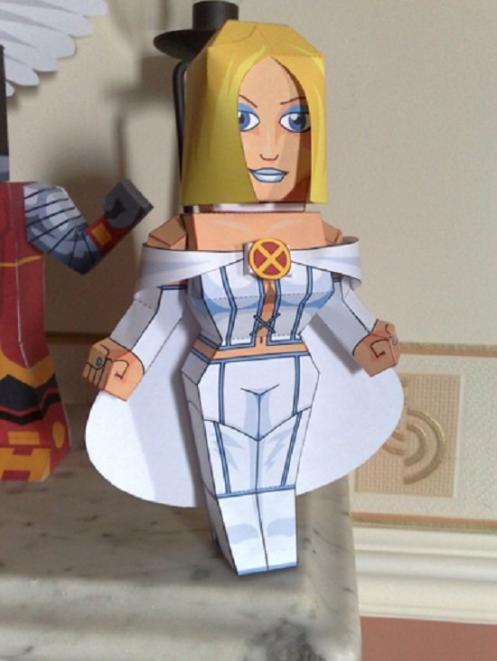 marvel papercraft white queen
