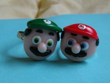 Mario and Luigi Rings (3)