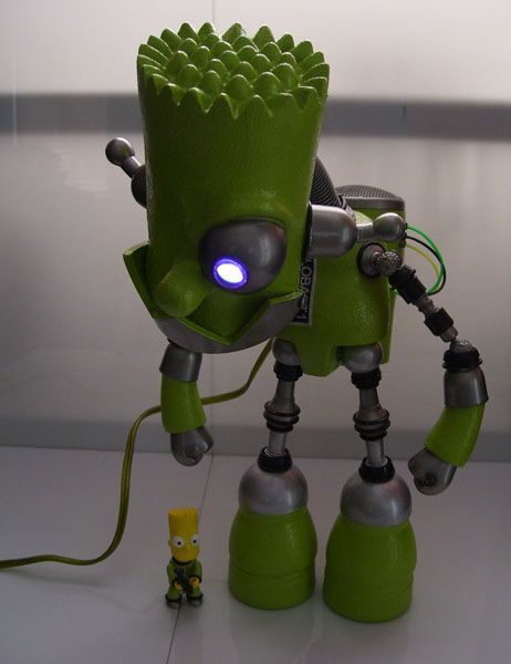 cool bart simpson robot