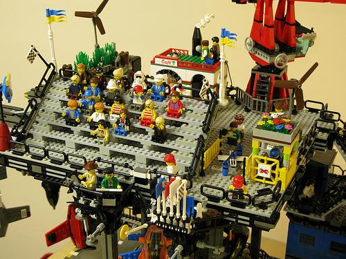 entire lego city steampunk style