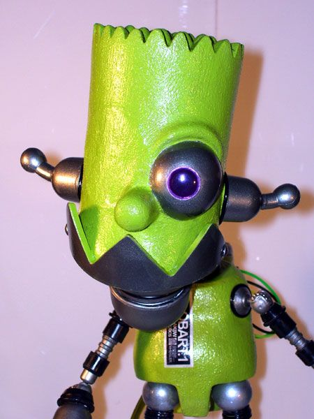 funny bart simpson robot