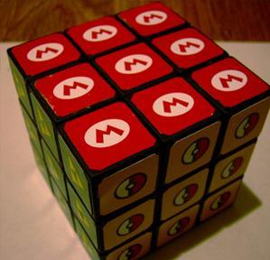 geeky nintendo rubik's cube