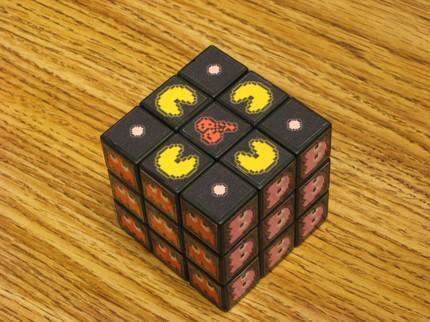 geeky pacman rubik's cube