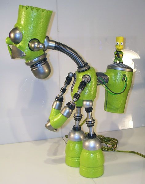 green bart simpson robot