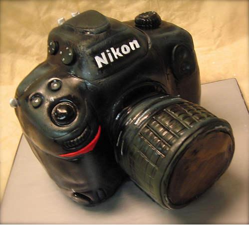 nikon camera cake design wrr