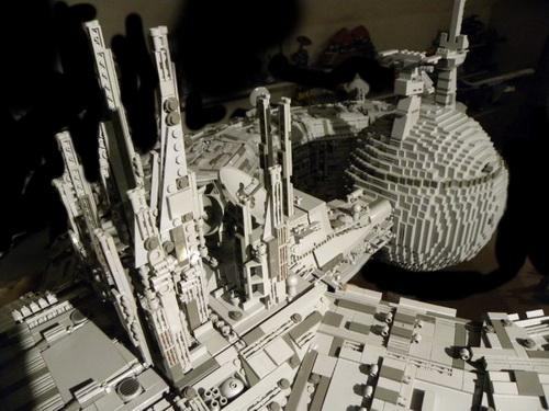 star wars droid ship lego art