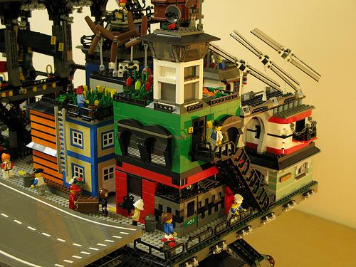 steampunk city made of lego