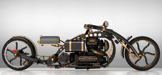 Black Widow Steampunk Chopper (3)