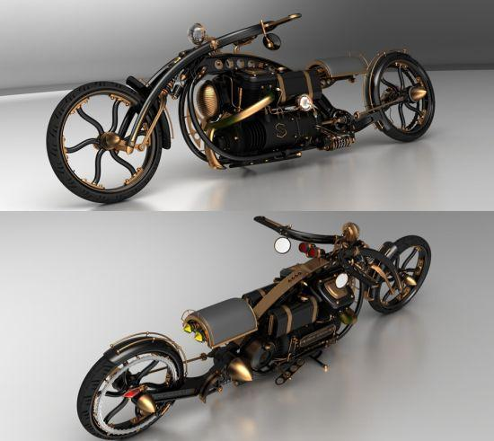 Black Widow Steampunk Chopper (4)